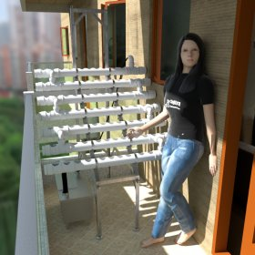 7 level hydroponic growing installation
